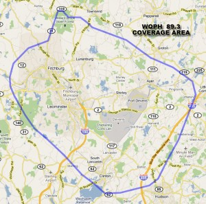 WQPH Approximate Coverage Map 1